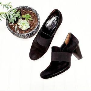 🎉Paul Green Munchen Black Suede Heel Ankle Boot🎉
